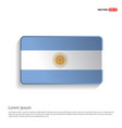 argentina flag design vector image