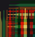 Background wine bottles vector image vector image
