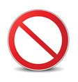 Banned icon vector image vector image