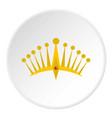 big crown icon circle vector image vector image