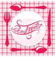 Bon appetit calligraphy red 380