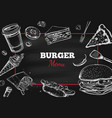 burger menu hand drawn 2 vector image