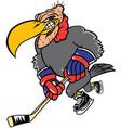 buzzard hockey logo mascot vector image vector image