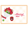 card merry me vector image