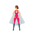 cartoon female superhero character vector image