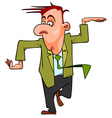 cartoon man in suit and tie funny dancing vector image vector image
