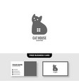 cat house logo free business card vector image