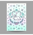 Christmas Card New Year Poster Rabbit Design on vector image vector image