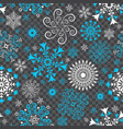 christmas seamless pattern with white and blue vector image vector image