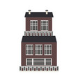 city element three-storey apartment public vector image vector image