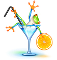 Cocktail frog vector image vector image