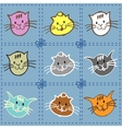 Collection of kittens of different colors vector image