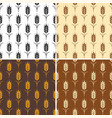 collection of seamless repeating wheat patterns vector image vector image