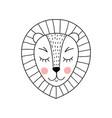 cute adorable lion vector image