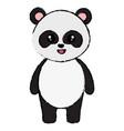 cute and tender bear panda character vector image