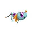 cute cowardly robot dog artificial intelligence vector image