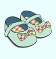 designs of baby shoes with bow for girls vector image