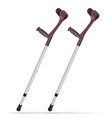 elbow crutch metal telescopic crutch medicine vector image