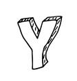 English alphabet - hand drawn letter Y vector image vector image