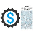 Financial Seal Icon with 1000 Medical Business vector image vector image
