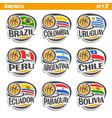 flags american national basketball teams vector image vector image