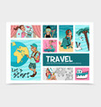 flat summer travel infographic template vector image vector image
