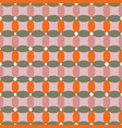 geometric pattern with pink orange and green vector image vector image