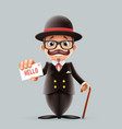 great britain gentleman businessman cartoon vector image vector image