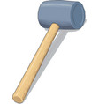 hammer isometric style vector image vector image