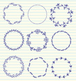 Hand sketched wreaths