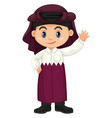happy boy from qatar in purple costume vector image vector image
