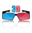 Icon 3D glasses vector image