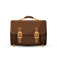 icon brown leather briefcase isolated on white vector image vector image