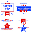 Independence Day retro cards vector image vector image