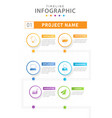 infographic modern timeline diagram with workflow vector image vector image