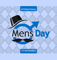 international mens day concept background flat vector image