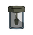 isolated laboratory test bottle vector image vector image