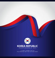 korea republic independence day template design vector image vector image