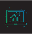 laptop graph icon design vector image