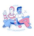 love isnt propaganda flat design vector image vector image