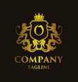 luxury letter o logo vector image vector image