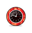 modern wall clock icon vector image vector image