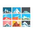 mountain peaks and summits landscape vector image vector image