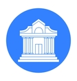 Museum building icon in black style isolated on vector image