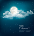 Night nature sky background with cloud and moon vector image vector image