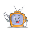 okay tv character cartoon object vector image vector image