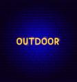 outdoor neon text vector image vector image