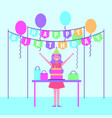 people birthday celebration vector image