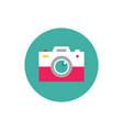 photo camera - concept colored icon vector image