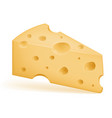 piece of cheese sliced with holes stock vector image vector image